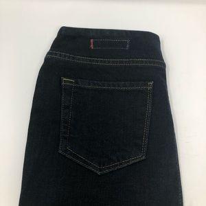 Women's indigo blue Hudson front zip skirt size 27